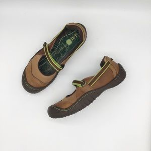 Jeep comfort shoes brown leather size 7.5